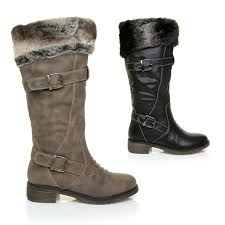 womens yard boots womens fur trim yard country boots faux