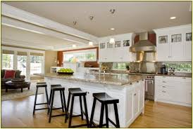 Large Kitchen With Island Oak Wood Bright White Madison Door Large Kitchen Island With