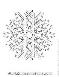 snow flake coloring u0026 coloring pages