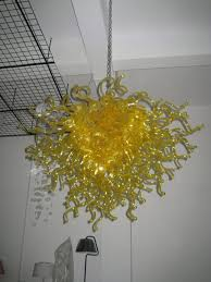 decor u0026 tips beautiful yellow blown glass chandelier for hanging