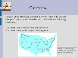South Carolina travelling salesman images The travelling salesman problem brett d estrade cs616 spring jpg
