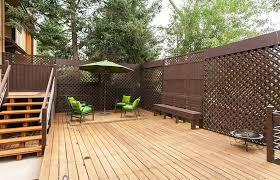 Backyard Wood Deck 50 Lattice Fence Design Ideas Pictures Of Popular Types