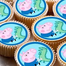 George Pig Cake Decorations 24 Icing Cake Toppers Decorations Birthday George Pig New With
