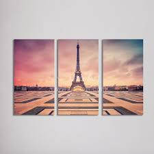 wholesale home decor canvas wall art painting paris eiffel tower