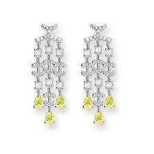 Citrine Chandelier Earrings Silver Earrings Studs Hoops Drop Dangle Chandelier Earrings