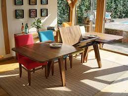 solid wood extendable dining table vanity extending dining tables in solid oak walnut contemporary wood