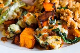 roasted butternut squash with caramelized onions gorgonzola and