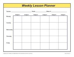 Weekly Lesson Plan Template Elementary weekly lesson plan template wildlifetrackingsouthwest