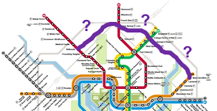 washington dc metrobus map will the purple line appear on the metro map greater greater