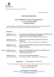 chambre de commerce franco russe programme du déplacement de nicolas sarkozy en russie