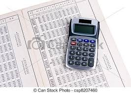 Logarithm Table Stock Photography Of Dutch Logarithm Table With Calculator Dutch
