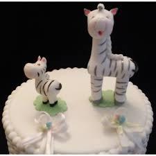 zebra mommy and baby cake topper zebra baby shower zebra cake