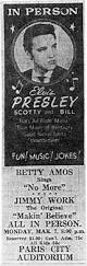 Abilene Reporter News From Abilene Texas On March 10 1955 by Elvis Presley In Concert