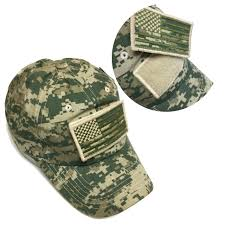 American Flag Camo Hat Military Army Digital Camo Camouflage Baseball Hat Cap With Usa