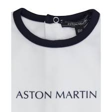 logo aston martin aston martin baby boys white baby grow with printed logo and navy