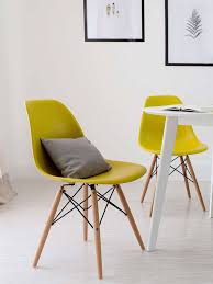 Mustard Dining Chairs by Eames Style Dining Chairs Available For A Limited Time Danetti
