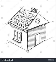 cute little house sketch vector illustration stock vector 94761436