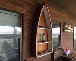 Canoe Bookcase Canoe Shelf Etsy
