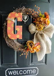 monogram wreath craftaholics anonymous monogram fall wreath