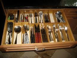 cabinet kitchen drawer organizer wood utensil drawer organizer