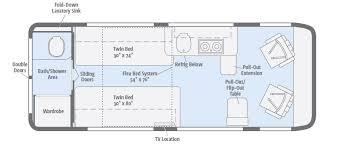 sle floor plan winnebago travato floorplan rear bathroom bad no need for