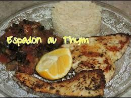 cuisiner espadon recette salée espadon au thym et sa ratatouille thyme swordfish