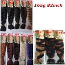 how much is expression braiding hair xpression synthetic braiding hair 82inch 165grams single color