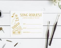 wedding song request cards song request cards etsy