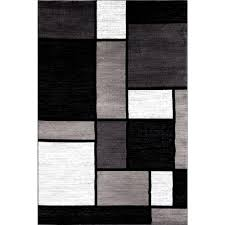 Modern Black Rugs World Rug Gallery Contemporary Modern Boxes Gray 7 Ft 10 In X 10