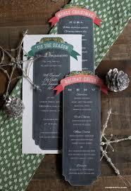 christmas menu word template editable christmas menu template