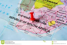 South Africa On Map south africa map stock photo image 54820999