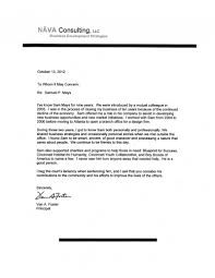 letter from principal of nava consulting mays defense fund