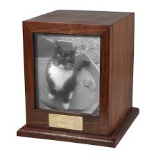 cat urn photo wood cat urn new memorials direct
