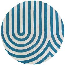 Modern Circular Rugs Chandra Geometric 8 Modern Blue Rug Collectic Home