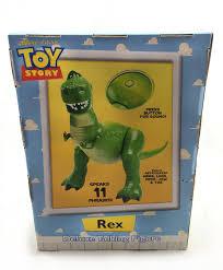 pixar fan toy story disney parks rex deluxe talking figure