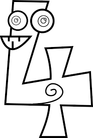number 4 coloring page coloring number 4 coloring page numbers