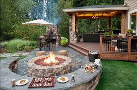 Firepit In Backyard Stylish Backyard Inspiration Keep Warm This Fall With
