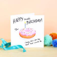 happy belated birthday doughnut card by ink bandit