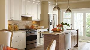 kitchen images gallery cabinet pictures omega cayhill painted maple cabinets in a casual kitchen