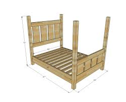Farmhouse Bed Frame Plans Four Post Bed Frame Plans Bed Frame Katalog 75f43e951cfc