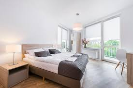 modern and comfortable bedroom interior design stock image image