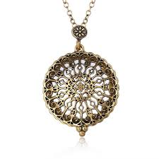 necklace pendants online images Fashion carved mandala flower necklaces pendants magnifying glass jpg
