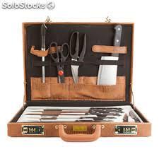 mallette cuisine couteaux de cuisine 13 pièces
