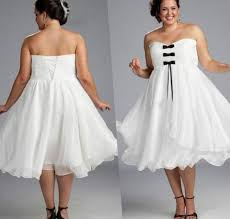 Short White Wedding Dresses Black And White Wedding Dresses Plus Size Pluslook Eu Collection