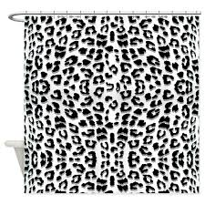 Leopard Curtains Snow Leopard Print Shower Curtain By Cutetoboot