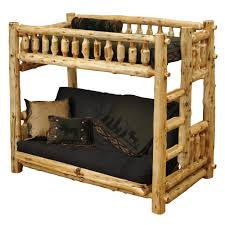 Log Bunk Bed Plans Log Bunk Beds With Trundle Lovely Dillon Black