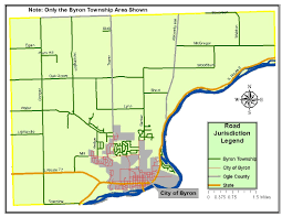 Illinois Road Construction Map by Byron Township Illinois Road District Home