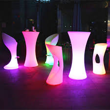 Led Bistro Table Led Furniture Import Rechargeable For Bar Led Bistro Table And