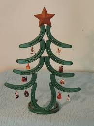 horseshoe christmas tree painted horseshoe christmas tree with miniature ornaments