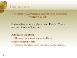 A Place When Five Themes Of Geography Powerpoint